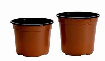 Round Pots 13cm Duo (5 degree) Pots Containers & Baskets > Soparco - Lightweight