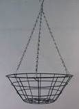 "Wire Hanging Basket 16"" Flat Bottom Pots Containers & Baskets > Wire Hanging Baskets"
