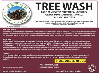ASTON TREE WASH 5L Soil Association Approved Product > Tree
