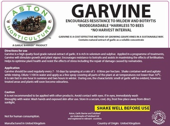 ASTON GARVINE 5L Soil Association Approved Product > The Vinyard