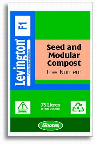 Levington F1 Seed & Modular Low Nutrient Compost 75L Growing Media > Levington