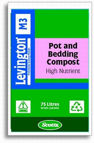 Levington M3 Pot/Bedding High Nutrient Compost 75L Growing Media > Levington