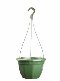 Octo Hanging Pot 27cm Green with water reserve  56/case Pots Containers & Baskets > Soparco
