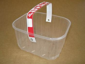 Punnets PYO Basket F1000 with Handle 1kg PP Packaging > Punnets