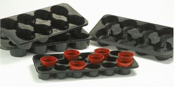 AEROPLAS 1ltx8 CARRY TRAY Pots Containers & Baskets >Aeroplas Pot Tray