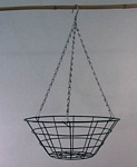 "Wire Hanging Basket 12"" Flat Bottom 24/pack"