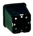 Square Injection Moulded H.D. Pots 9 x 9 x 10cm  648/case